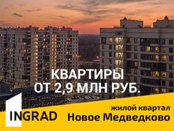 ЖК «Новое Медведково». От 2,9 млн рублей Ипотека 5,9%. Три варианта